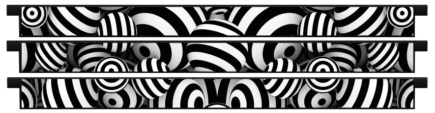 Planks > Straight Plank x 3 > Striped Circles