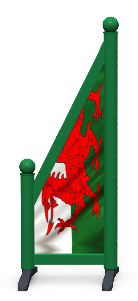 Wing > Sloping Printed > Welsh Flag