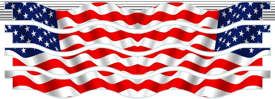 Planks > Wavy Plank x 4 > American Flag