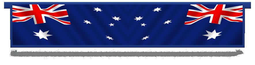 Fillers > Hanging Solid Filler > Australian Flag