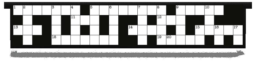 Fillers > Hanging Solid Filler > Crossword