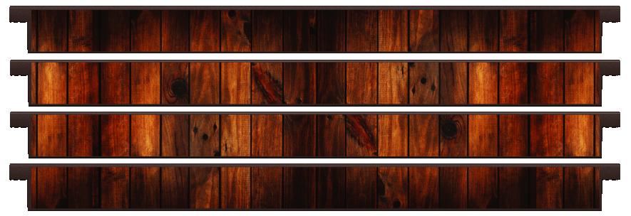 Planks > Straight Plank x 4 > Dark Wood