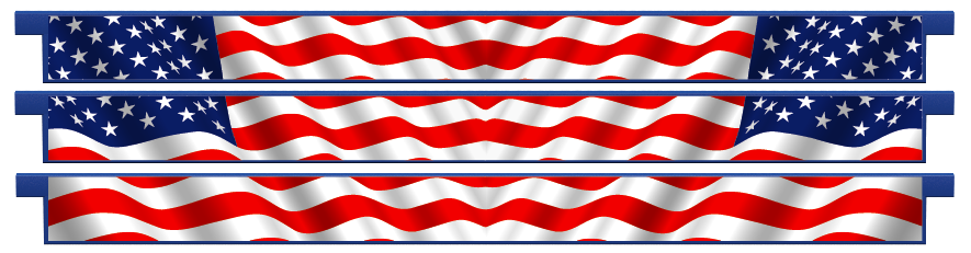 Planks > Straight Plank x 3 > American Flag
