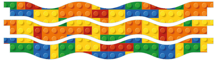 Planks > Wavy Plank x 3 > Toy Bricks