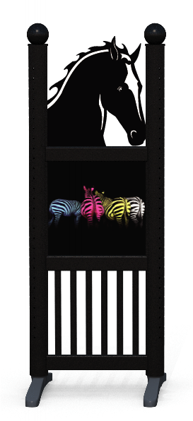 Wing > Combi Horse Head > Colourful Zebras