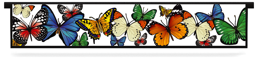 Fillers > Hanging Solid Filler > Butterflies