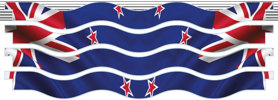 Planks > Wavy Plank x 4 > New Zealand Flag