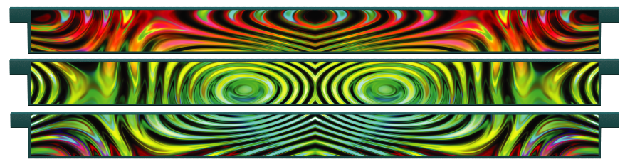 Planks > Straight Plank x 3 > Colourful Ripples
