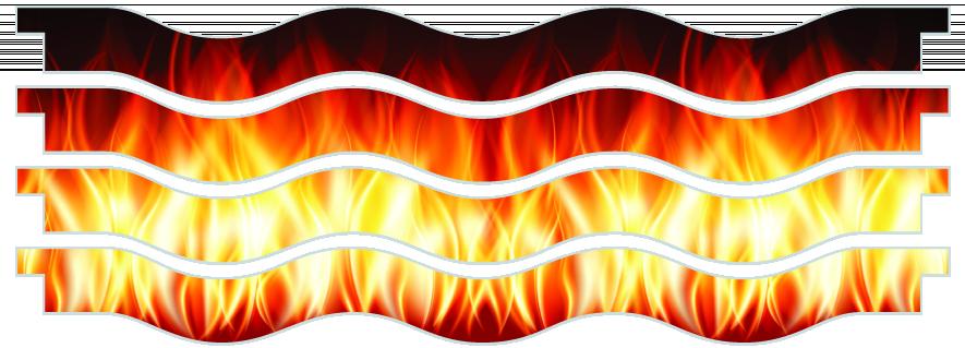 Planks > Wavy Plank x 4 > Fire