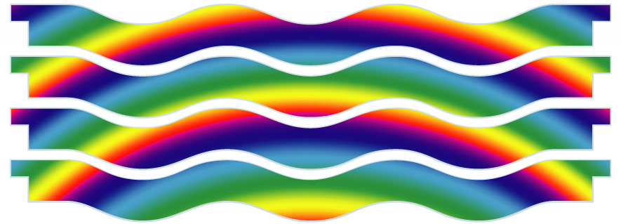 Planks > Wavy Plank x 4 > Rainbow