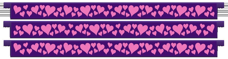 Planks > Straight Plank x 3 > Hearts