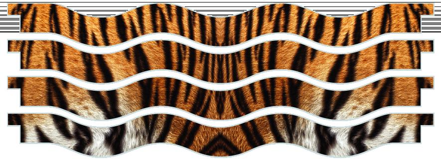 Planks > Wavy Plank x 4 > Tiger Skin