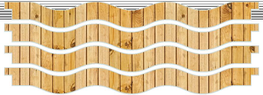 Planks > Wavy Plank x 4 > Light Wood