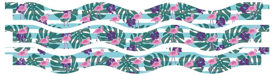 Planks > Wavy Plank x 3 > Flamingo