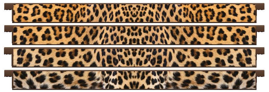 Planks > Straight Plank x 4 > Leopard Skin