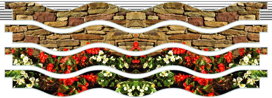 Planks > Wavy Plank x 4 > Flowerbed Wall