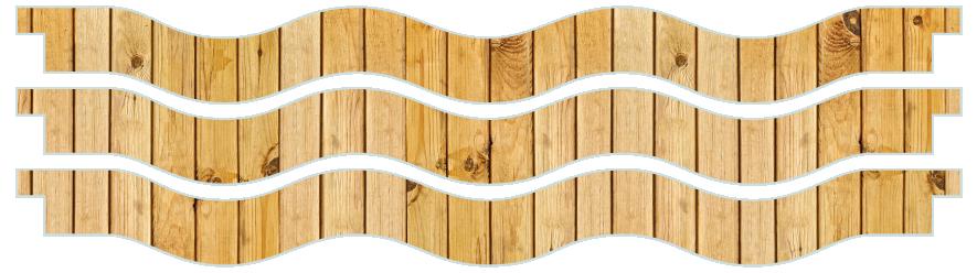 Planks > Wavy Plank x 3 > Light Wood