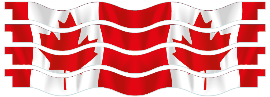 Planks > Wavy Plank x 4 > Canadian Flag