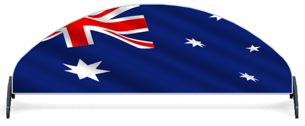 Fillers > Half Moon Filler > Australian Flag