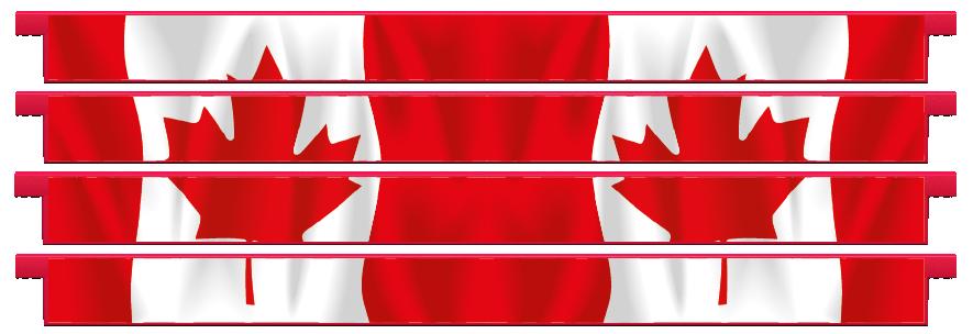 Planks > Straight Plank x 4 > Canadian Flag