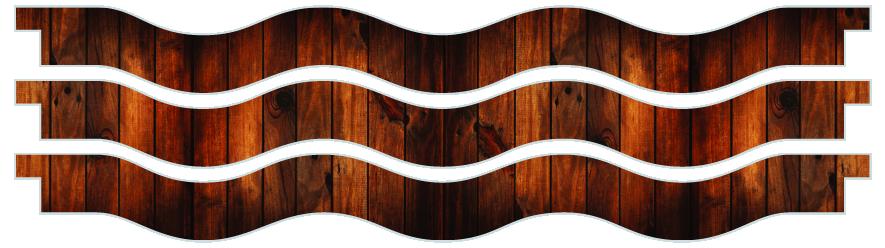 Planks > Wavy Plank x 3 > Dark Wood