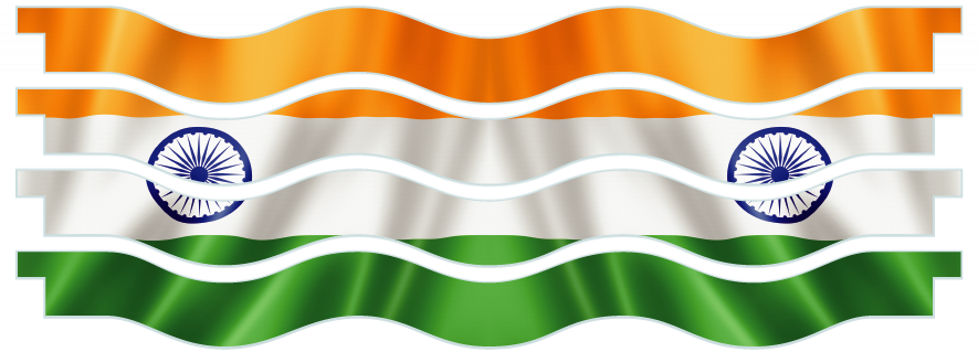 Planks > Wavy Plank x 4 > Indian Flag