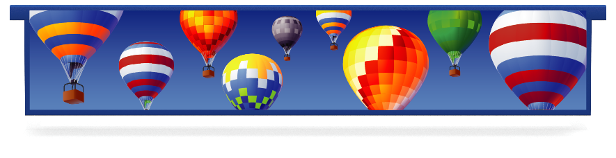 Fillers > Hanging Solid Filler > Hot Air Balloons