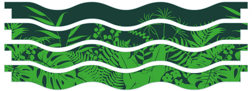 Planks > Wavy Plank x 4 > Jungle