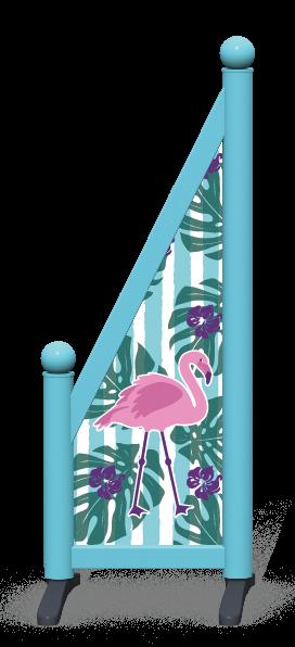 Wing > Sloping Printed > Flamingo