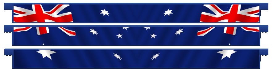 Planks > Straight Plank x 3 > Australian Flag