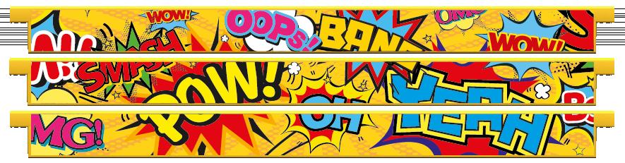 Planks > Straight Plank x 3 > Pop Art