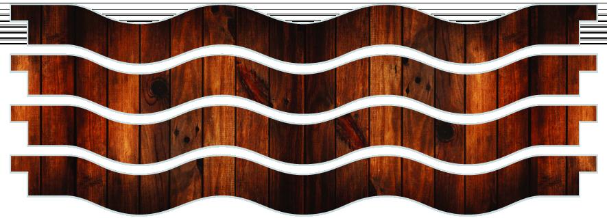 Planks > Wavy Plank x 4 > Dark Wood