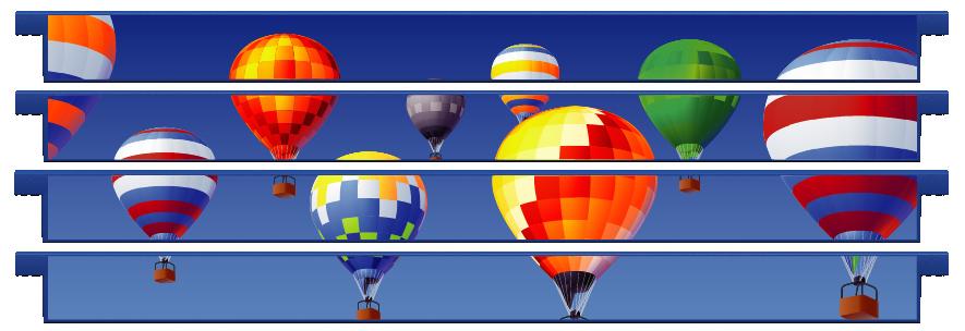 Planks > Straight Plank x 4 > Hot Air Balloons