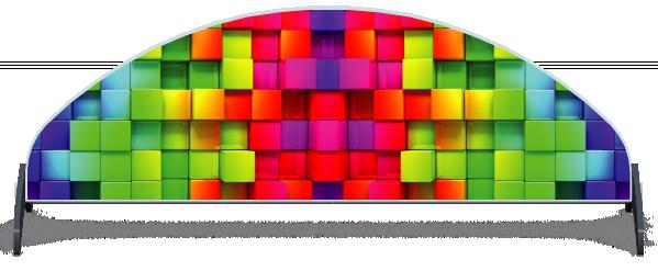 Fillers > Half Moon Filler > Rainbow Cubes