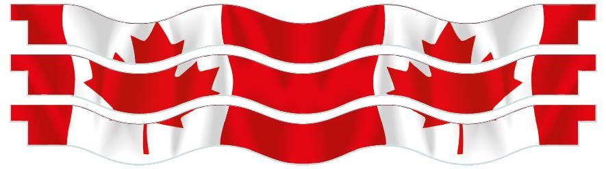 Planks > Wavy Plank x 3 > Canadian Flag