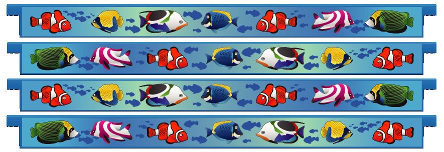 Planks > Straight Plank x 4 > Tropical Fish