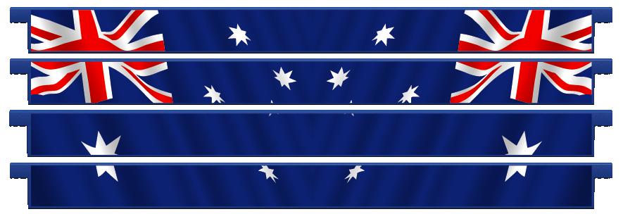 Planks > Straight Plank x 4 > Australian Flag