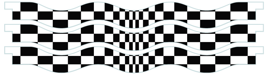 Planks > Wavy Plank x 3 > Chequered