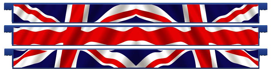 Planks > Straight Plank x 3 > United Kingdom Flag