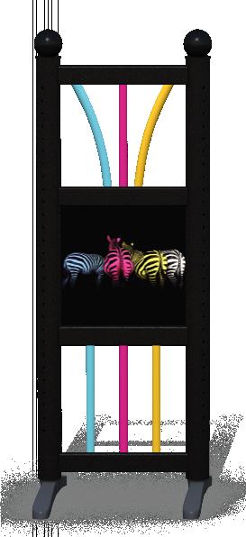 Wing > Combi D > Colourful Zebras