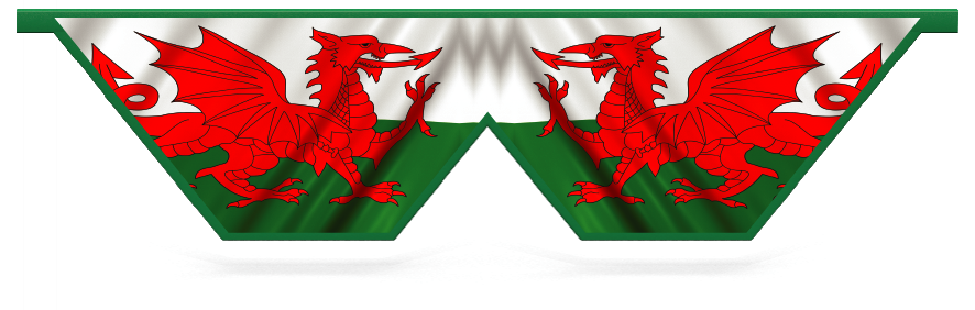 Fillers > Double V Filler > Welsh Flag