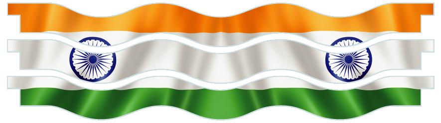 Planks > Wavy Plank x 3 > Indian Flag