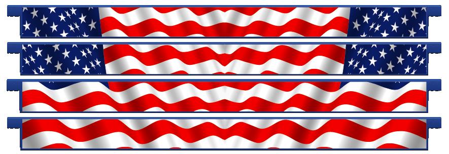Planks > Straight Plank x 4 > American Flag