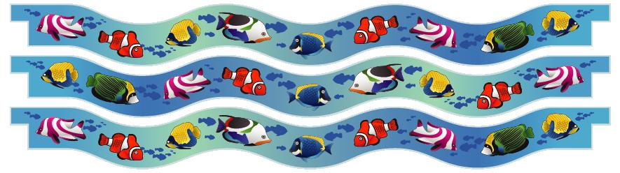 Planks > Wavy Plank x 3 > Tropical Fish