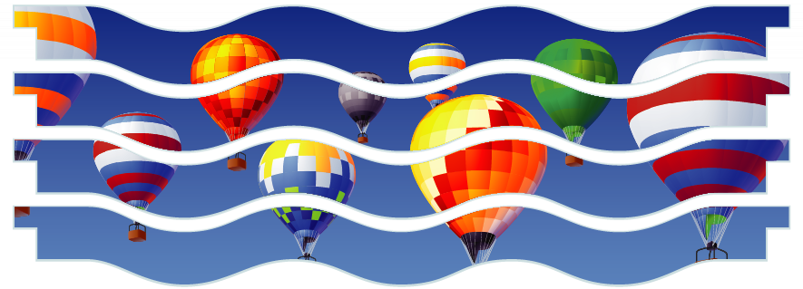 Planks > Wavy Plank x 4 > Hot Air Balloons