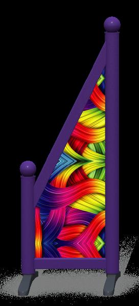Wing > Sloping Printed > Rainbow Ribbons