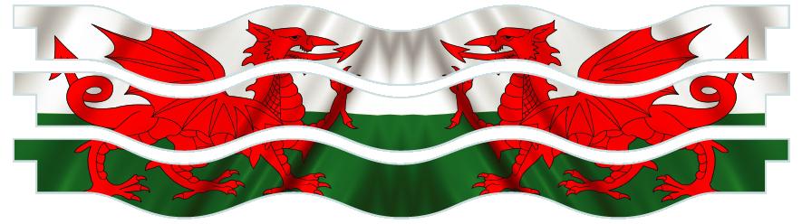 Planks > Wavy Plank x 3 > Welsh Flag