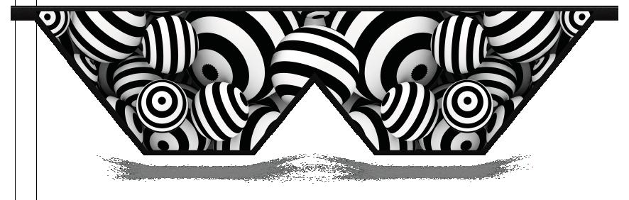 Fillers > Double V Filler > Striped Circles