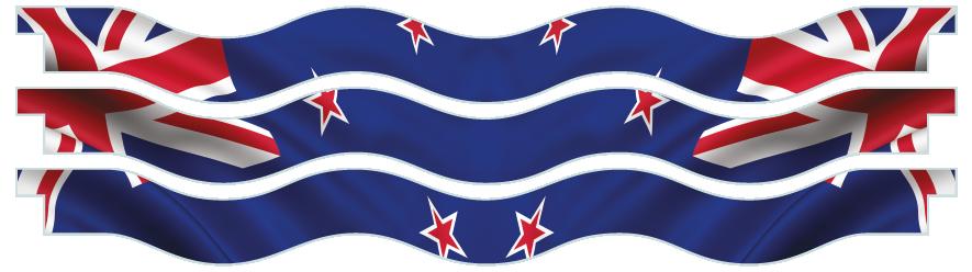Planks > Wavy Plank x 3 > New Zealand Flag