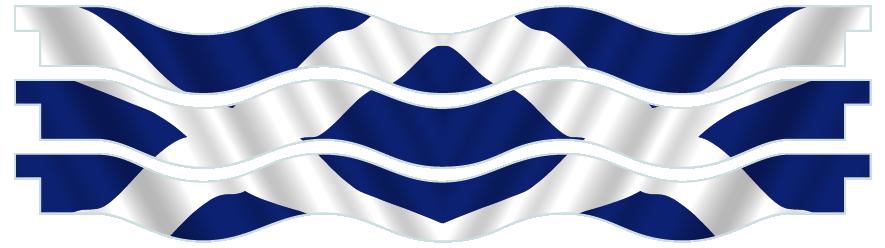 Planks > Wavy Plank x 3 > Scottish Flag